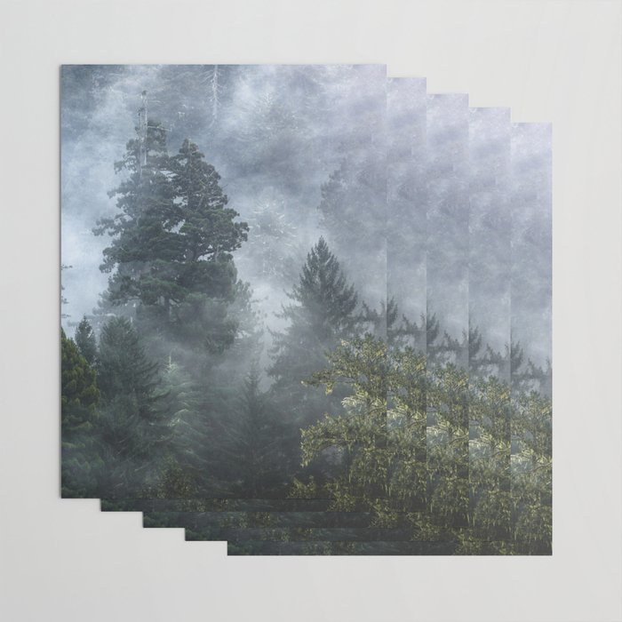 Smoky Redwood Forest Foggy Woods - Nature Photography Wrapping Paper