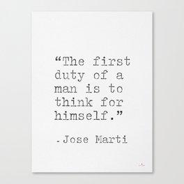 Jose Marti quote Canvas Print