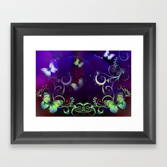 Butterfly Fantasy Framed Art Print