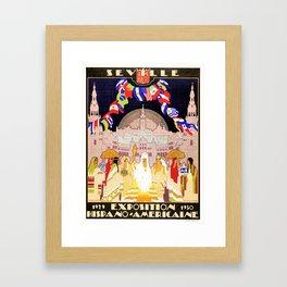 Seville Hispano American Expo 1929 art deco ad Framed Art Print