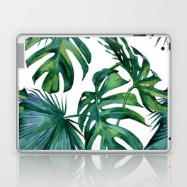Classic Palm Leaves Tropical Jungle Green Laptop & iPad Skin