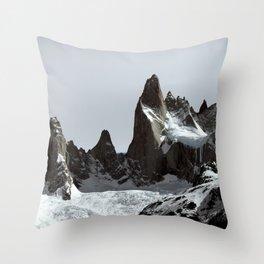 mountains of Patagonia Throw Pillow