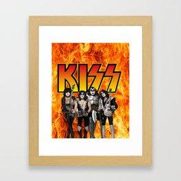 Kiss band Framed Art Print