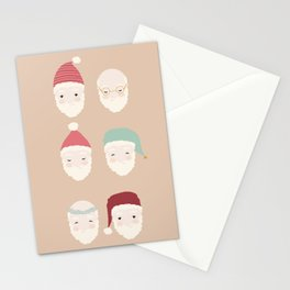 Santas - Mocha Stationery Cards