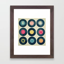 Vinyl Collection Framed Art Print