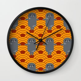 Little Seals Playing in a Bowl of Spaghetti Wall Clock