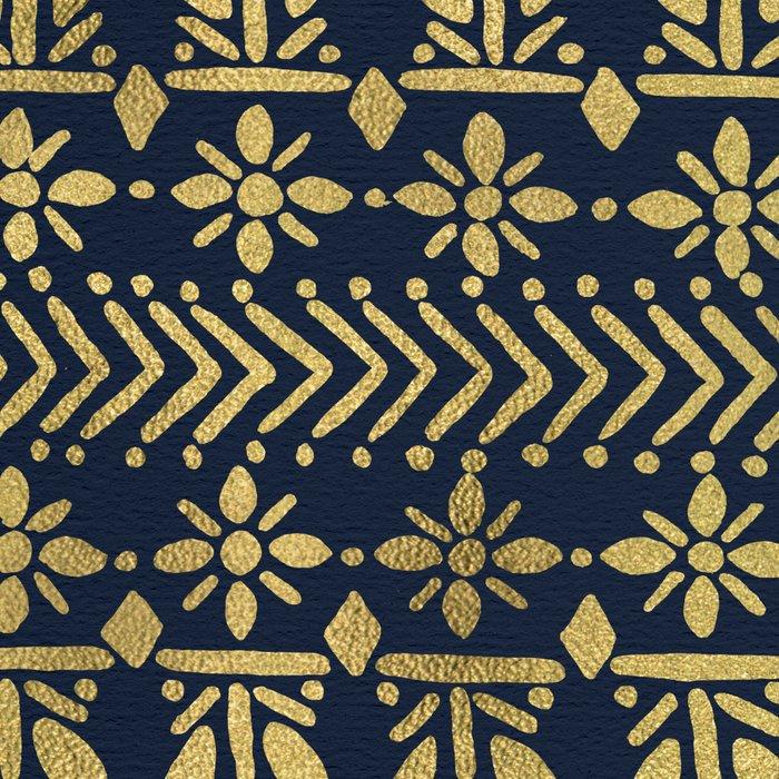 Norwegian Pattern – Gold on Navy Leggings