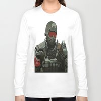 military Long Sleeve T-shirts featuring Military Male Character by Jude Beavis