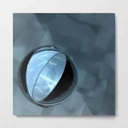 Blue Caustics Metal Print