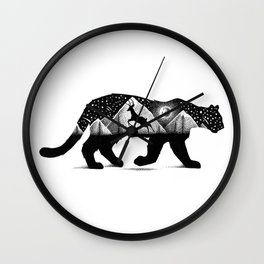 THE MOUNTAIN LION AND THE DEER Wall Clock