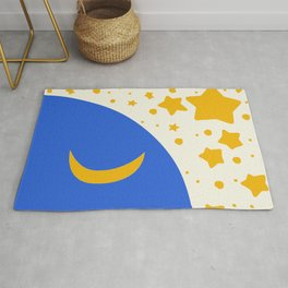 Moon and stars for kids Rug