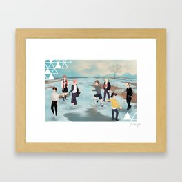 Five Years of Bangtan Framed Art Print