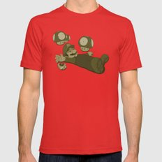Tragic Ending-raw Red SMALL Mens Fitted Tee