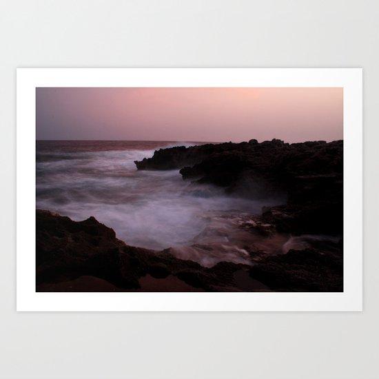 A Menorca Storm. Art Print