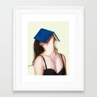 books Framed Art Prints featuring Books by Carlos ARL