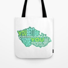Czech Yourself Tote Bag