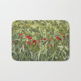 Cornfield Poppy Landscape Bath Mat