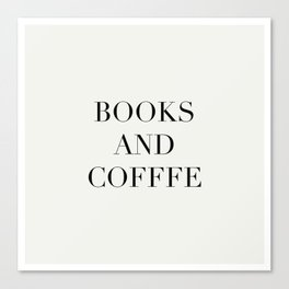 Books & Coffee Canvas Print
