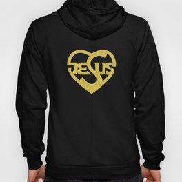 Biblical typography. Christian symbols. Jesus heart. Hoody