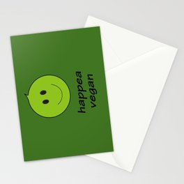 happy vegan Stationery Cards
