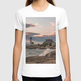 Annisquam Lighthouse sunset T-shirt