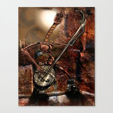 One Thousand Pardons: One-String Bass Gimp in the Meat Castle Canvas Print