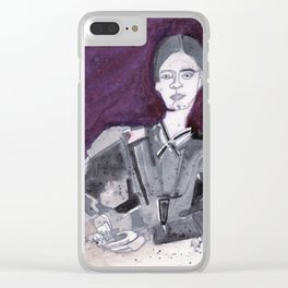 Emily Dickinson Clear iPhone Case