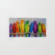 A flock of parrots, Hand & Bath Towel