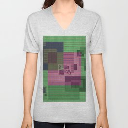 Floppy Disc High Def Fantasy Geometry Unisex V-Neck