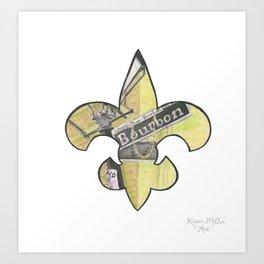Fleur De Lis Bourbon Street Art Print
