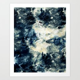 Drowning in Waves Texture Art Print