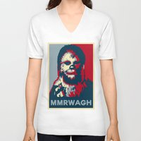 chewbacca V-neck T-shirts featuring Chewbacca  by Ilustrachii