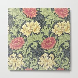 William Morris Chrysanthemum Metal Print