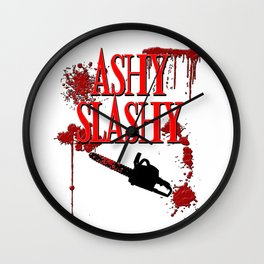 Ashy Slashy Chainsaw Wall Clock