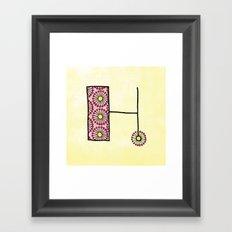 H h Framed Art Print