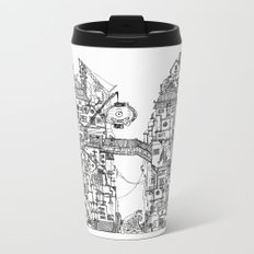Busy City VII Metal Travel Mug