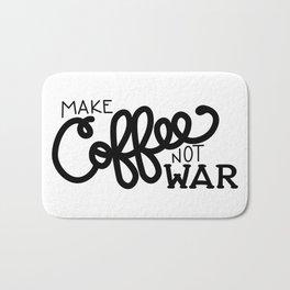 Coffee Not War (Black) Bath Mat