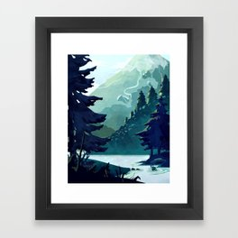 Canadian Mountain Framed Art Print