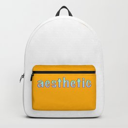 Aesthetic text vintage letters, grunge Backpack