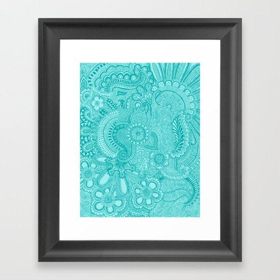 millions aqua Framed Art Print