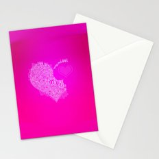 Happy valentine day heart Stationery Cards
