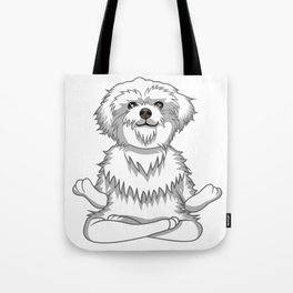 Paws and Meditate Tote Bag