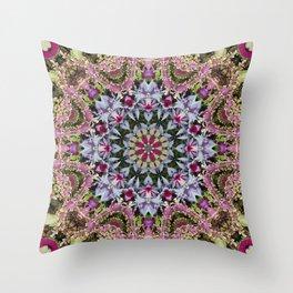 Summer leaves kaleidoscope Olbrich Botanical Gardens Throw Pillow