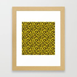 Lemon Yellow Leopard Spots Animal Print Pattern Framed Art Print