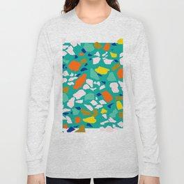 Terazzo Pattern in Pool Long Sleeve T-shirt