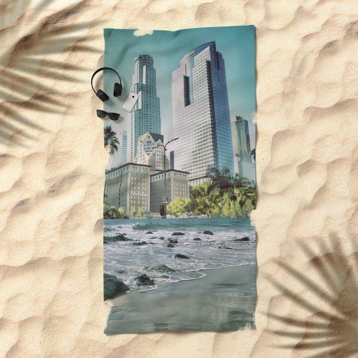 Surf City L.A. Beach Towel