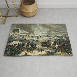 Battle of Gettysburg by Thomas Kelly Rug