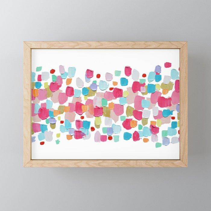 Magenta Confetti Framed Mini Art Print