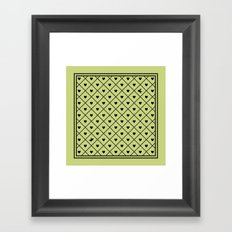 Never Far Away (from the Valentine set) (colors: legally lime) Framed Art Print