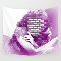 hollywood Wall Tapestries featuring behind the walls of hollywood by MehrFarbeimLeben